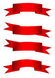 inställda röda band Royaltyfri Bild