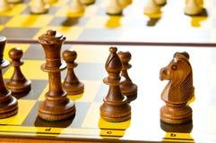 inställda schackdiagram Royaltyfria Foton