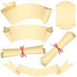 inställda scrolls för banerdiplomgrunge royaltyfria bilder