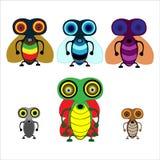inställda skalbaggar royaltyfri illustrationer