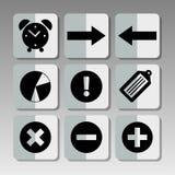 inställda svarta symboler Fotografering för Bildbyråer