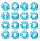 inställda symboler Royaltyfri Fotografi