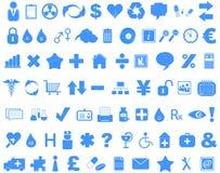 inställda symboler Royaltyfri Bild