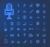 inställda symboler Arkivfoto