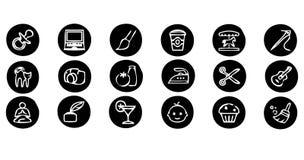 inställda symboler Royaltyfria Bilder