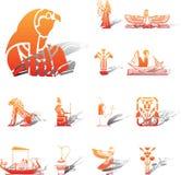 inställda symboler för 96a egypt stock illustrationer