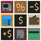 inställda symboler Kontanta transaktioner Arkivbild