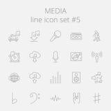 inställda symbolsmedel vektor illustrationer