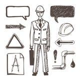inställda tekniksymboler Royaltyfri Illustrationer