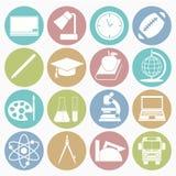 inställda utbildningssymboler Royaltyfri Bild