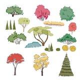 inställda växter vektor illustrationer