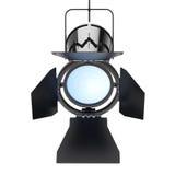 Inställer den moderna strålkastaren för metall från tak framförande 3d Royaltyfria Foton