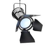 Inställer den moderna strålkastaren för metall från tak framförande 3d Royaltyfria Bilder