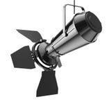 Inställer den moderna strålkastaren för metall från tak framförande 3d Arkivfoton