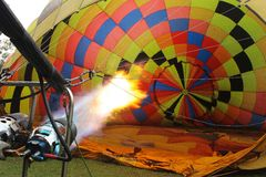 Inställning av ballongen Arkivfoton