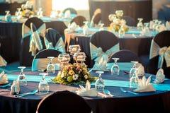 Inställning för bröllopbanketttabell Royaltyfria Foton