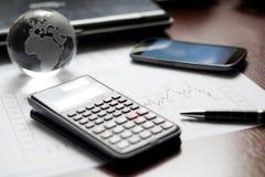 Inställning för finansiell tabell Arkivbilder