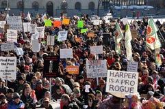 inställning för kanadensareparlamentprotest Royaltyfri Bild