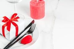 Inställning för tabell för dag för valentin` s Royaltyfri Bild