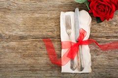 Inställning för tabell för dag för valentin` s Royaltyfria Foton