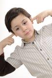 inställningbarn som har negativerubbning royaltyfria bilder