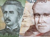 inställningen till den chilenska sedeln av 1000 pesos och den peruanska sedeln av tjugo sular
