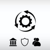 Inställningsparametrar, runda pilar symbol, vektorillustration Royaltyfri Bild