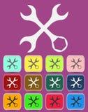 Inställningsskiftnyckelsymbol med färgvariationer, vektor Fotografering för Bildbyråer