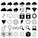 Inställningssymboler Arkivfoto