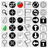 Inställningssymboler Arkivbild