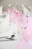 inställningstabellbröllop Royaltyfri Bild