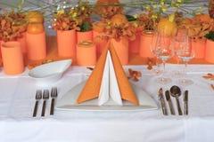 inställningstabellbröllop Royaltyfri Fotografi