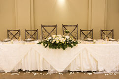 inställningstabellbröllop Arkivfoto