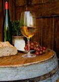 inställningstuscan wine Royaltyfria Foton