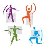 inställningsymboler ställde in sportar Arkivfoto