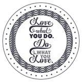 Inställninguttryck om design för förälskelseinsidaram stock illustrationer