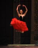 Inställt i luft-godis den felika dansen - balettnötknäpparen Arkivfoton