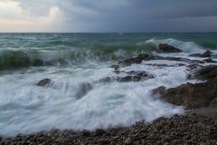 Inställt i Tid det stormiga havet Royaltyfria Foton