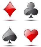 inställt symbol för kasino dobbleri Royaltyfri Fotografi
