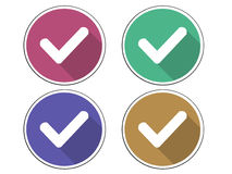 Instämma symbolen för symbolen för symbolen ja den korrekta Arkivbild