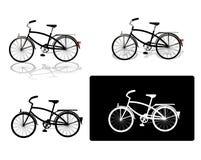 inställda bilder för cykel fyra Royaltyfri Bild