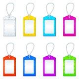 inställda etiketter för färg rep Royaltyfri Fotografi