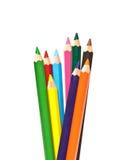 inställda kulöra blyertspennor Arkivfoton