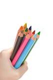 inställda kulöra blyertspennor Royaltyfri Bild