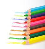 inställda kulöra blyertspennor Royaltyfri Fotografi