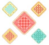inställda patchworkrhombuses Fotografering för Bildbyråer