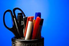 inställda pennor Arkivfoto