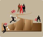 Instabiliteit in zaken stock illustratie