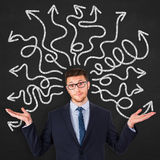 Instability on Blackboard Royalty Free Stock Images