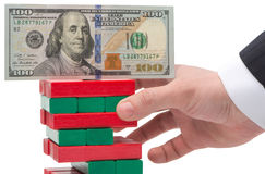 The instability of the dollar. In the concept Royalty Free Stock Photography